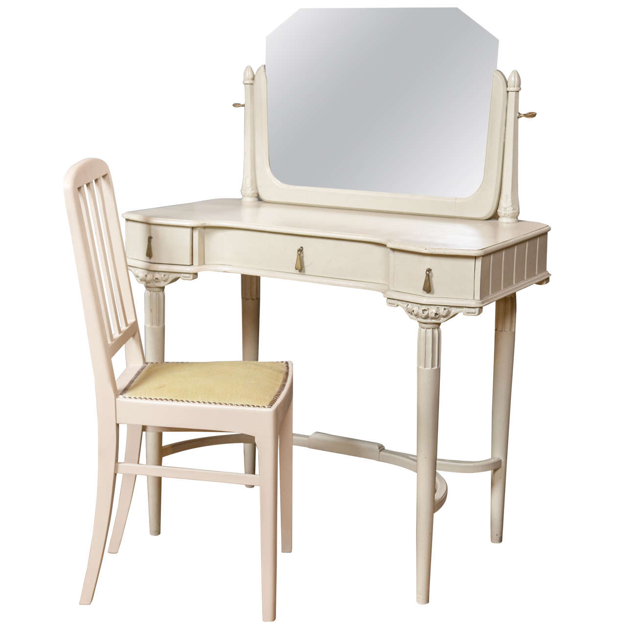 french art deco dressing table and chair for sale at 1stdibs. Black Bedroom Furniture Sets. Home Design Ideas