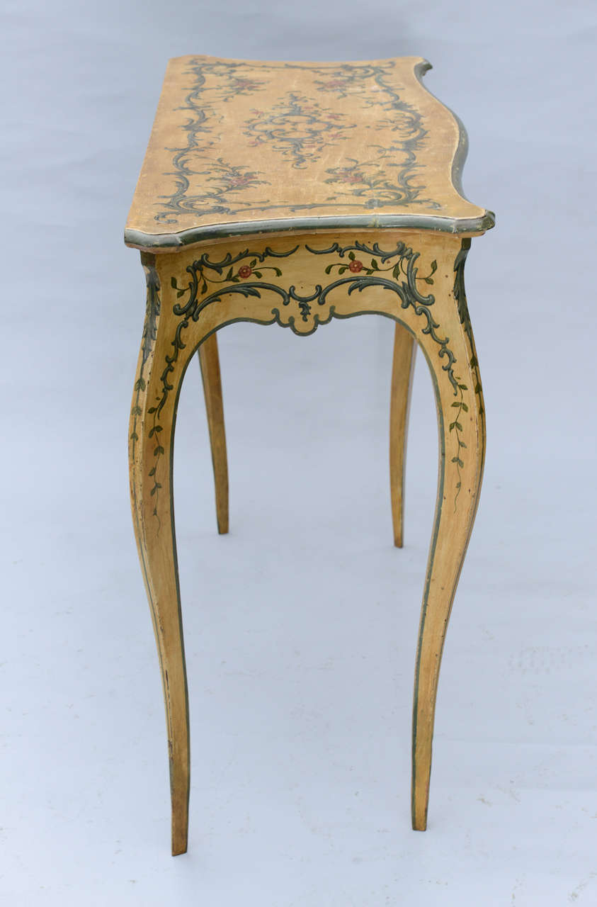hand painted 19th century console table for sale at 1stdibs. Black Bedroom Furniture Sets. Home Design Ideas