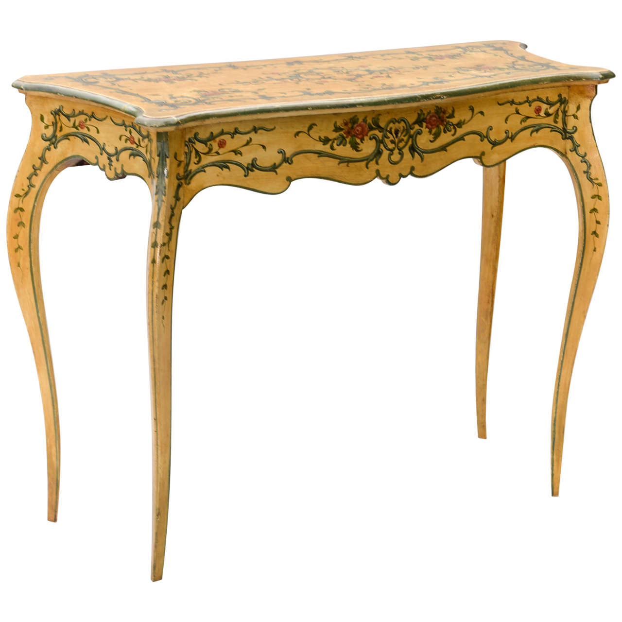 Hand Painted 19th Century Console Table 1