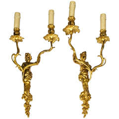 Elegant Maison Charles Pair of Sconces