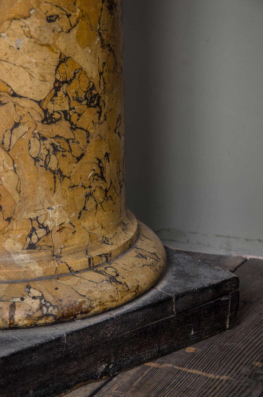 Tall Sienna Scagliola Column For Sale 1