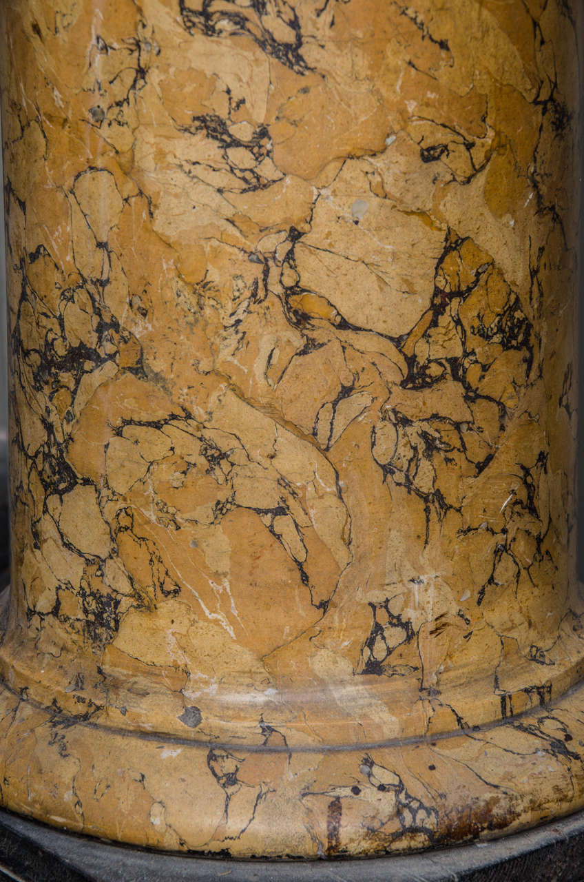 Tall Sienna Scagliola Column For Sale 2