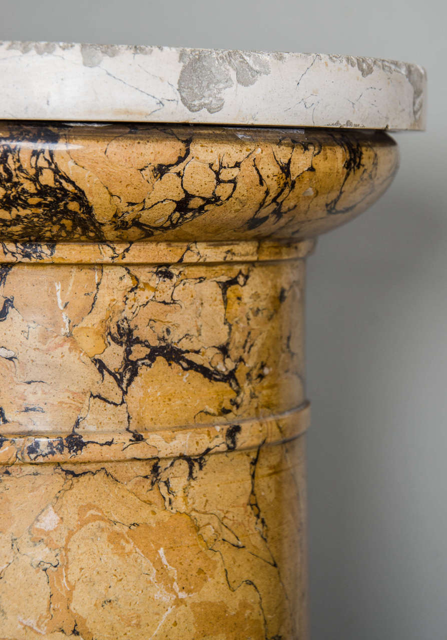 Tall Sienna Scagliola Column For Sale 3