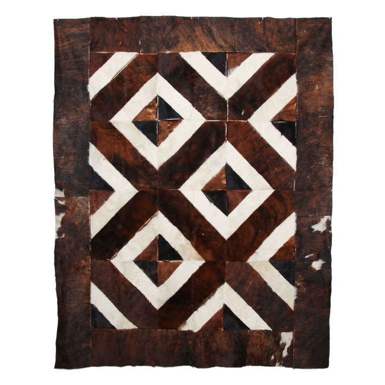 Hide Patch Rug/Wall Hanging At 1stdibs
