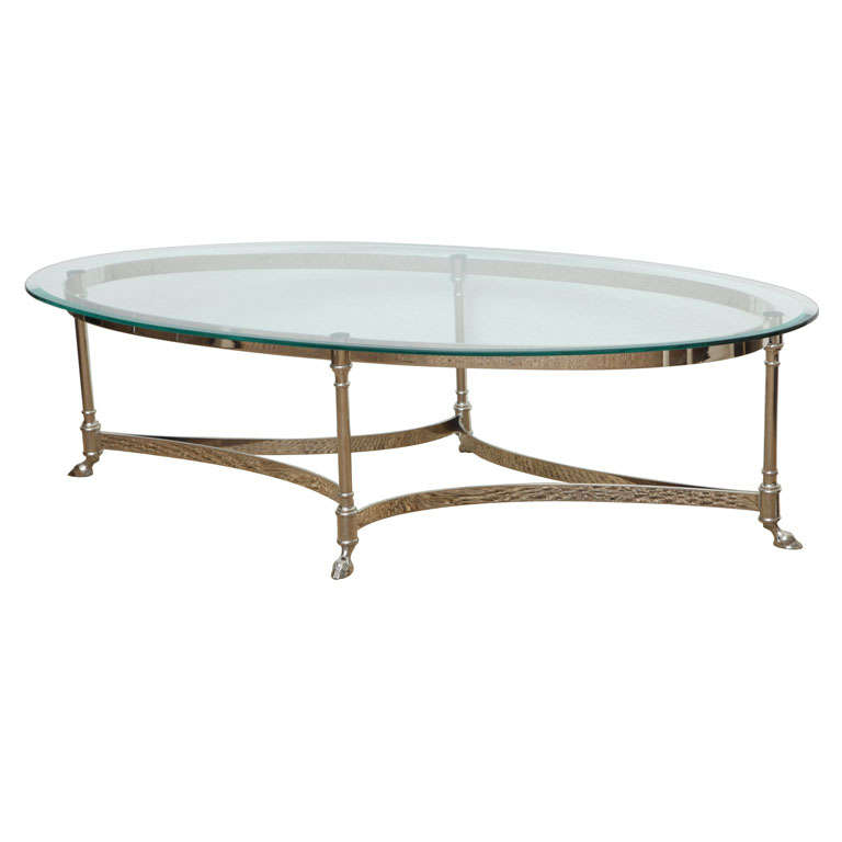 Clawed Foot Nickel Cocktail Table For Sale At 1stdibs