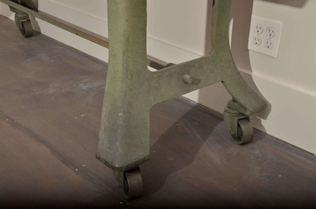 Metal Industrial Table Base with Bluestone Top