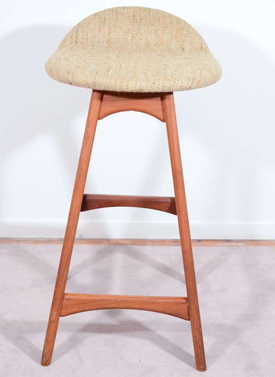 Set Of Three Danish Mid Century Low Stools By Erik Buck At