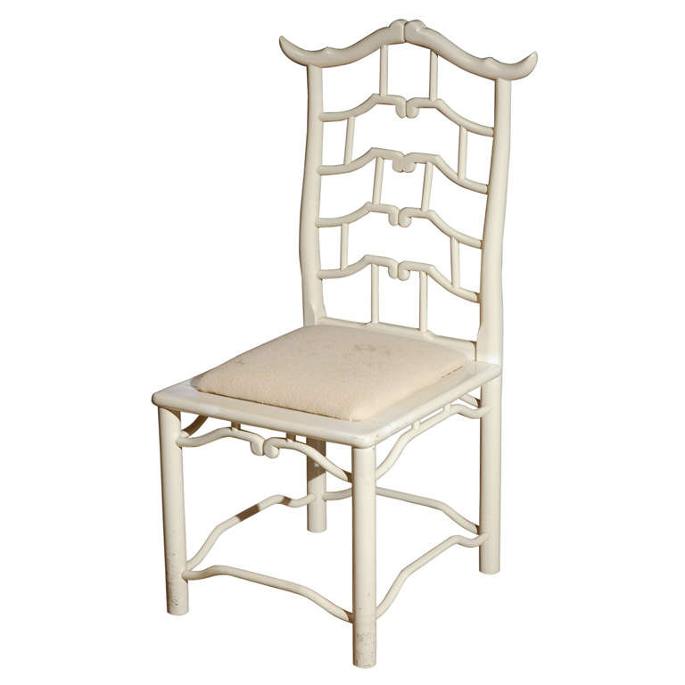 Chinoiserie Chippendale Chair Ivory Chinoiserie Chippendale