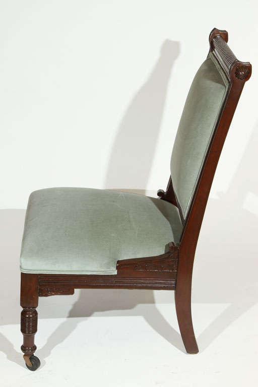 Antique Eastlake Slipper Chair At 1stdibs
