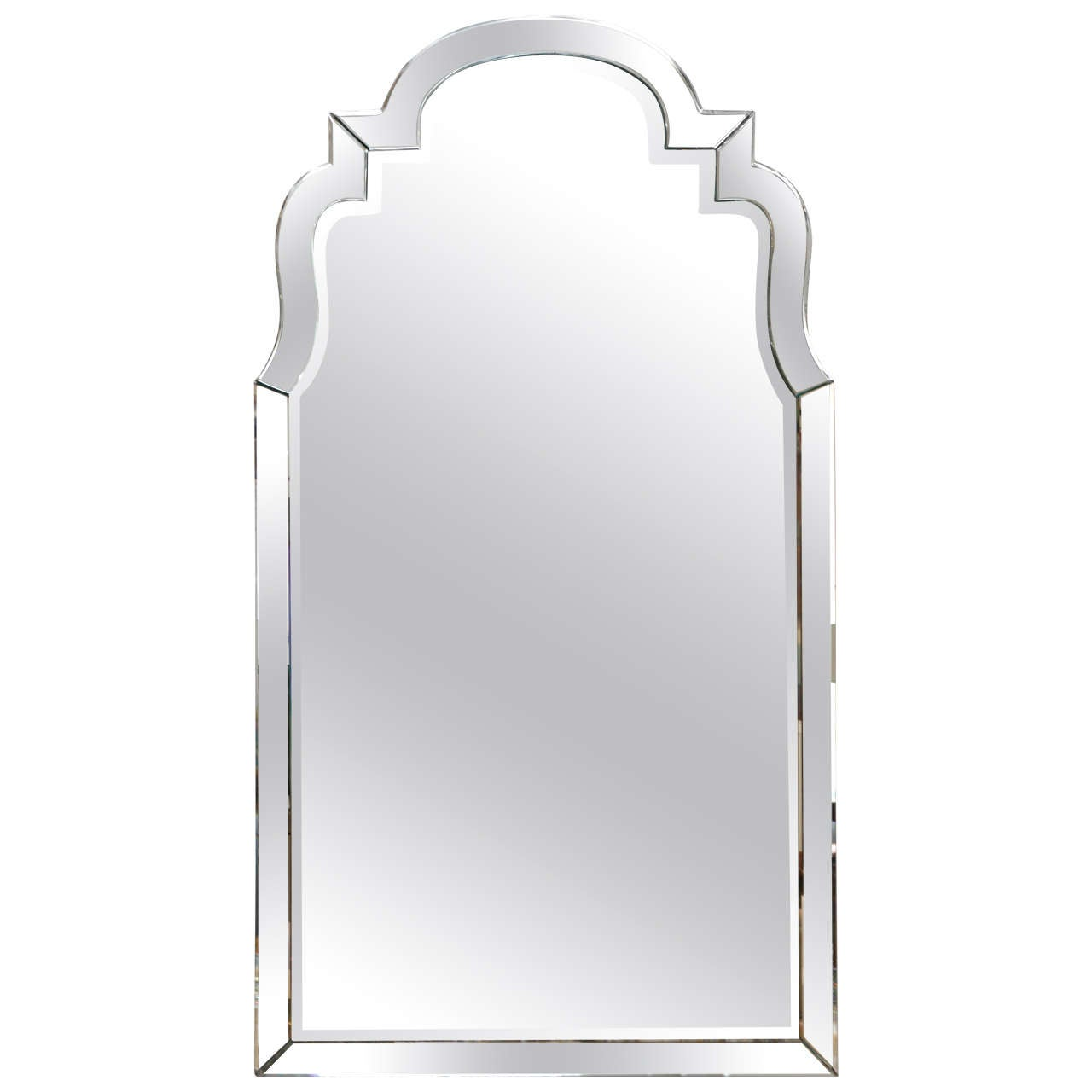 Arched gilt mirror at 1stdibs - Venetian Mirror Framed Mirror In The Queen Anne Style 1