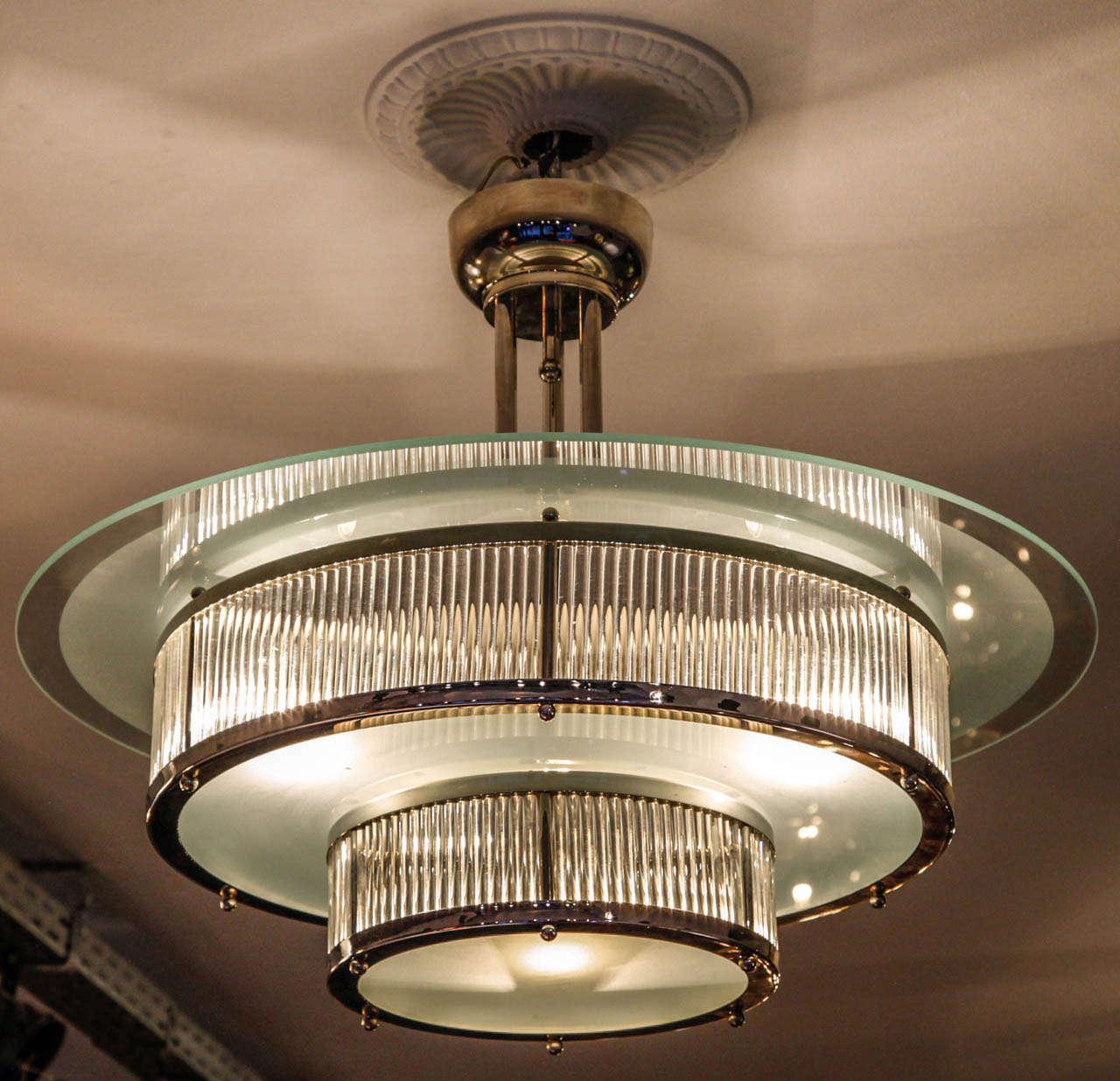 Art deco chandelier at 1stdibs - Lighting and chandeliers ...