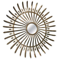 "Brushed Metal ""Bow & Arrow"" Mirror"