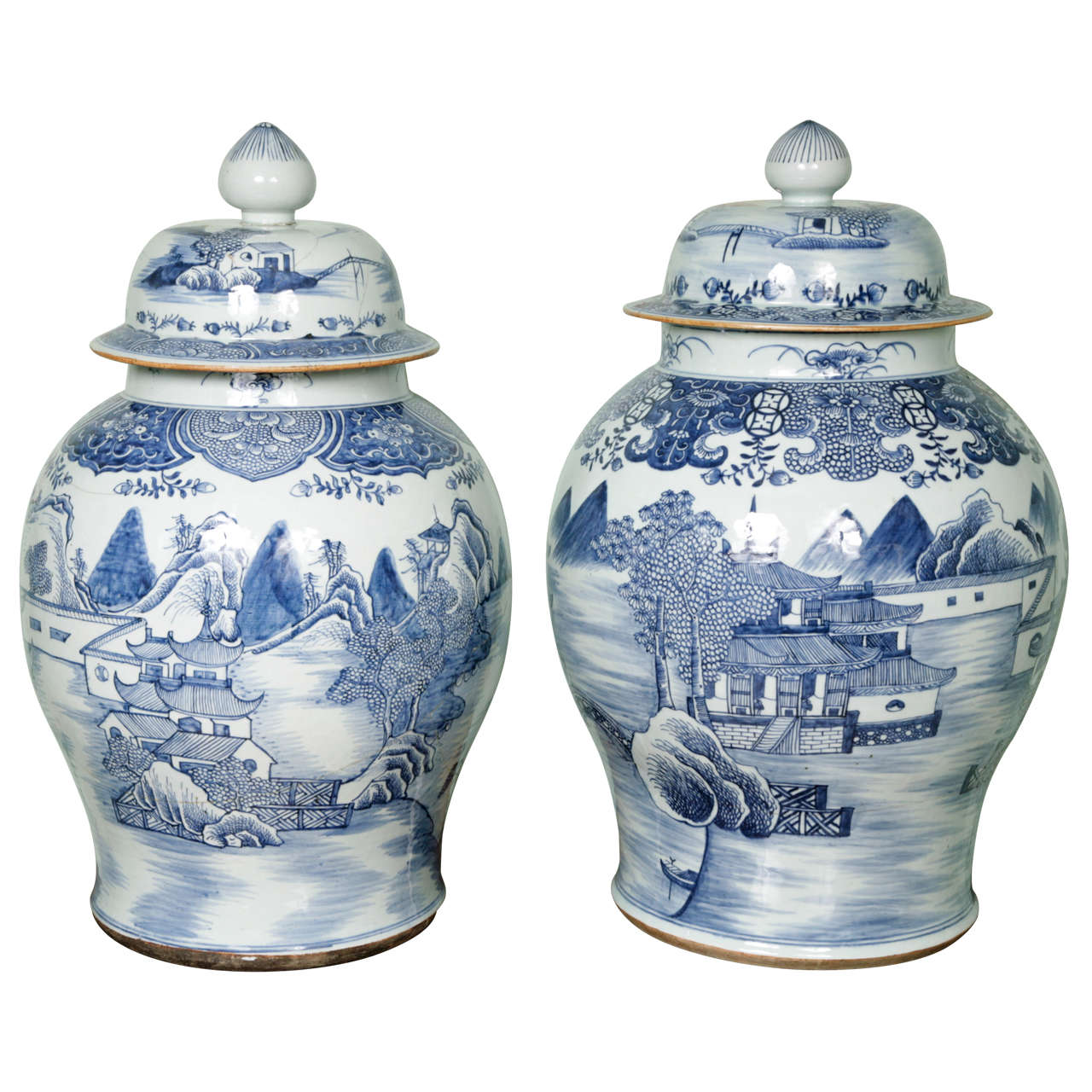 Two huge 18th century chinese blue and white vases at 1stdibs two huge 18th century chinese blue and white vases for sale reviewsmspy