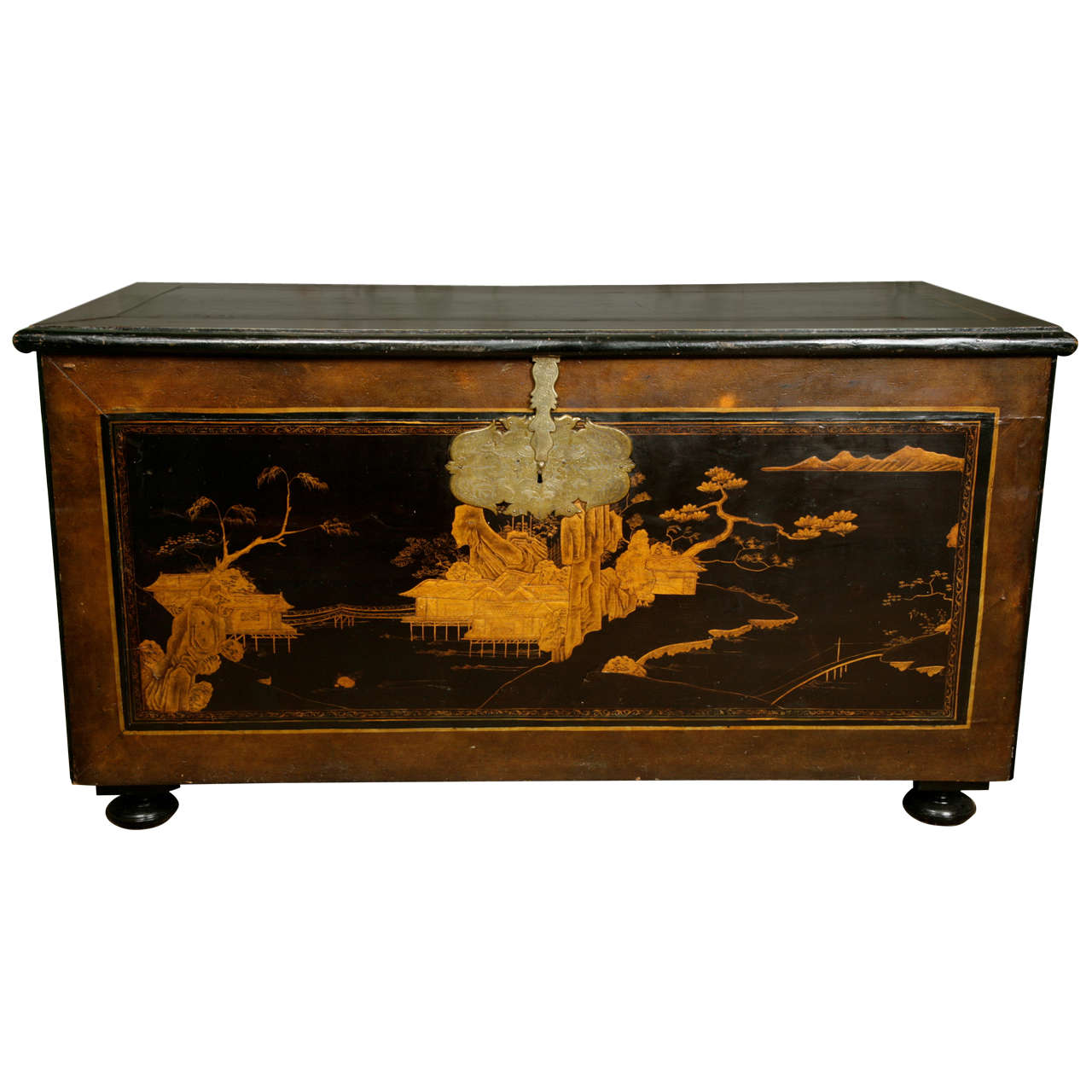 18th Century Japanned Trunk