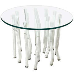 Round Glass Coffee Table by F. Novembre