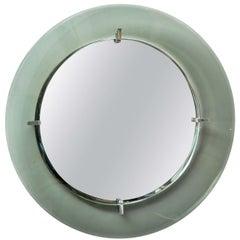 Circular Wall Mirror by Crystal Art