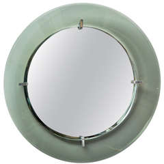 Circular Wall Mirror by Crystal Art