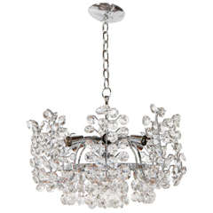 Crystal Chandelier Attributed to Sciolari