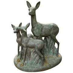 Bronze Doe and Her Fawns