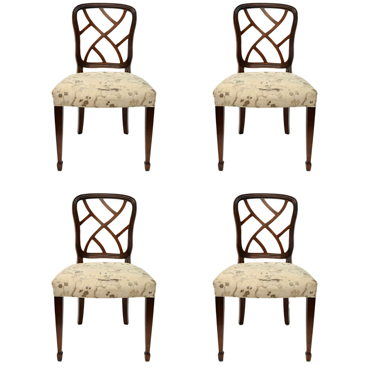 Kindel dining chairs at 1stdibs for 4 x dining room chairs