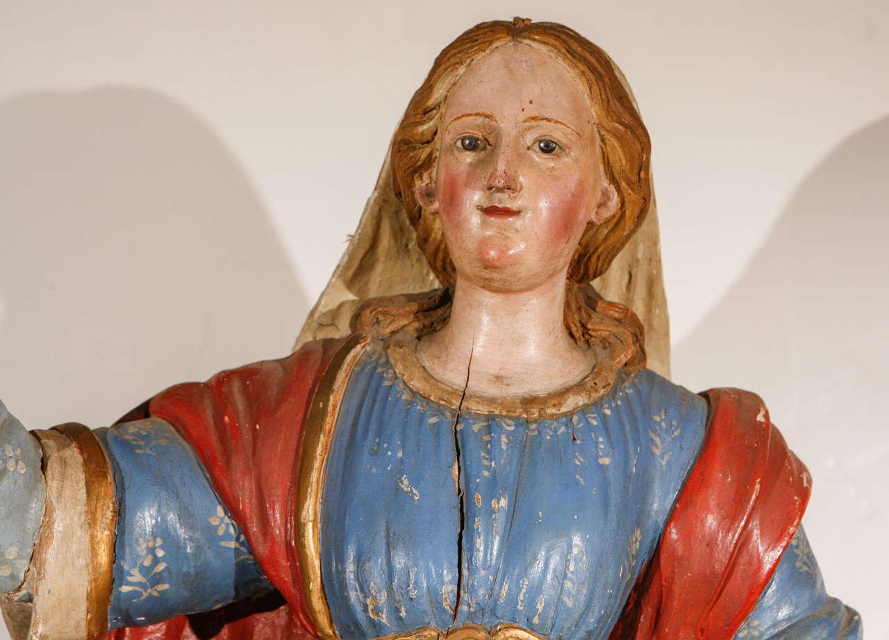 Gilt Early 18th Century, Italian Santos Figure For Sale