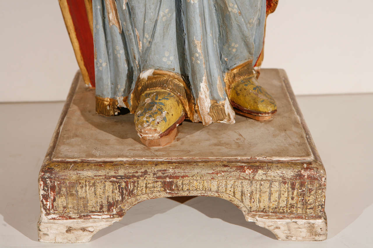 Early 18th Century, Italian Santos Figure In Good Condition For Sale In Newport Beach, CA