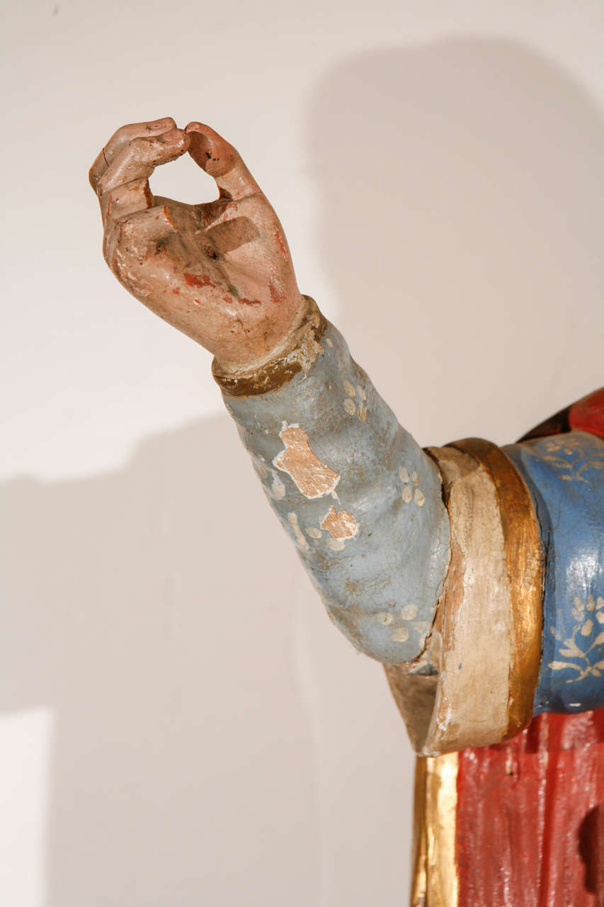 Paint Early 18th Century, Italian Santos Figure For Sale
