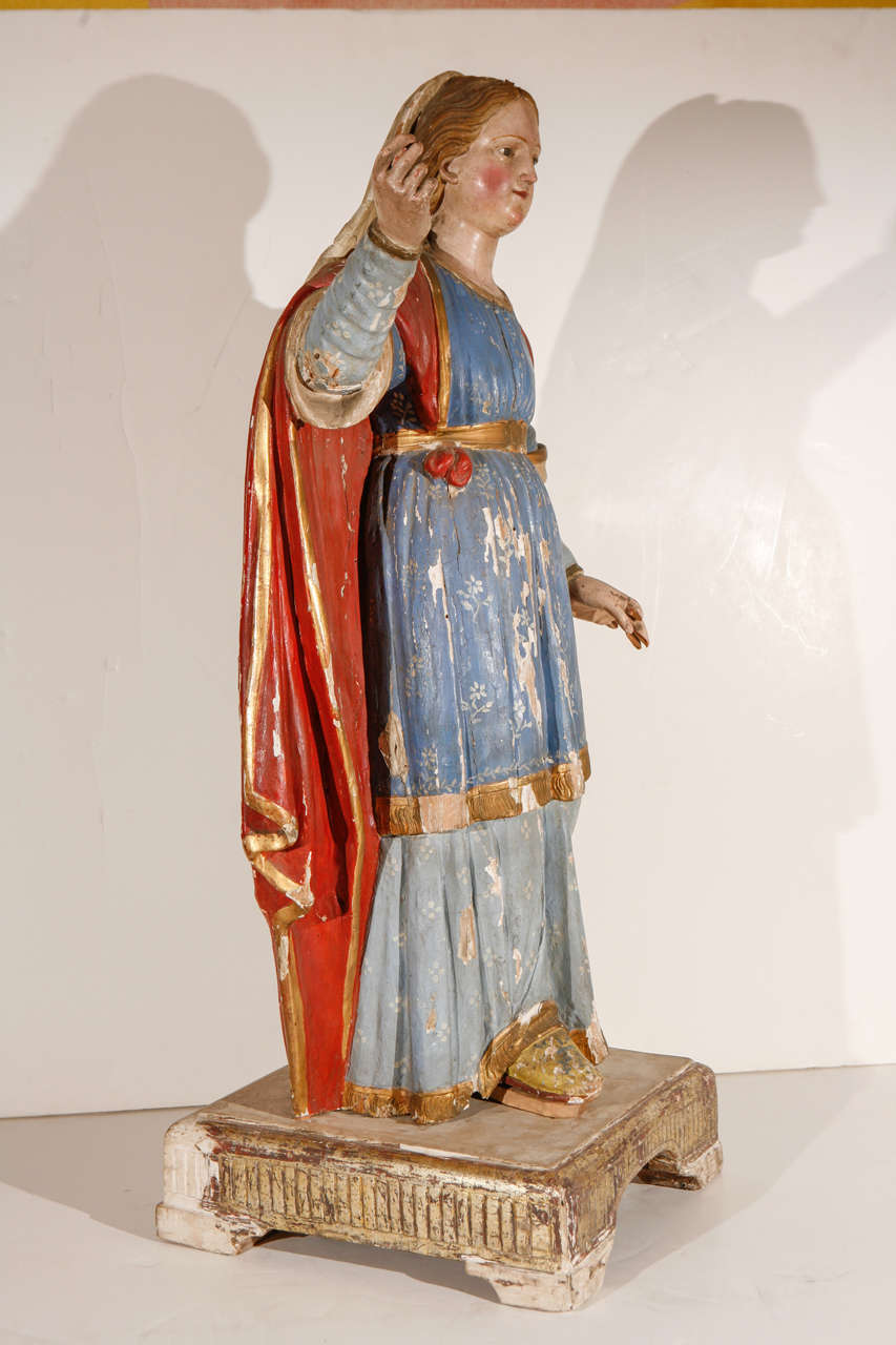 Early 18th Century, Italian Santos Figure For Sale 1