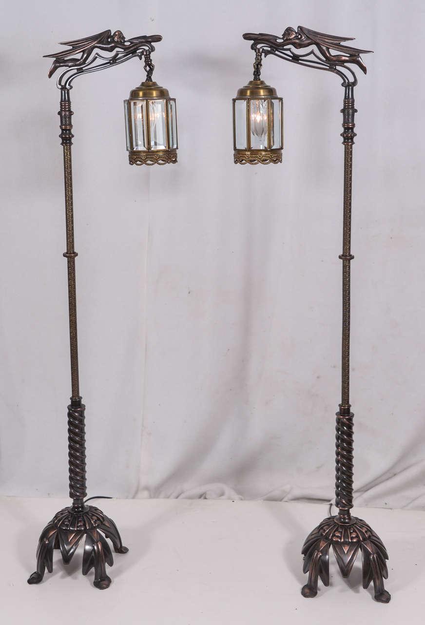 Pair Of Vintage Rembrandt Bridge Lamps At 1stdibs