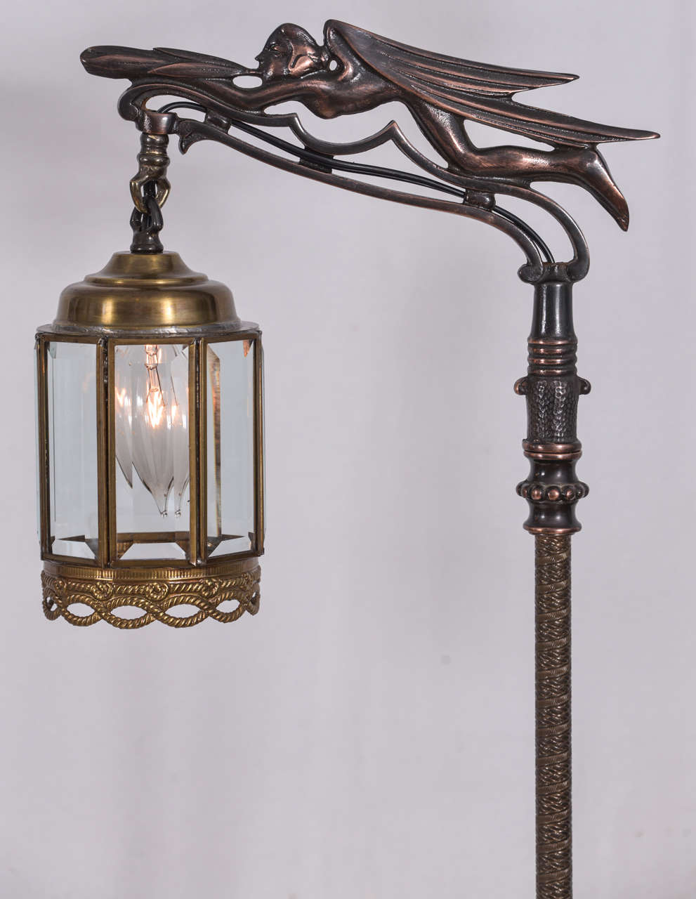 Pair of vintage rembrandt bridge lamps at 1stdibs art deco pair of vintage rembrandt bridge lamps for sale aloadofball Gallery