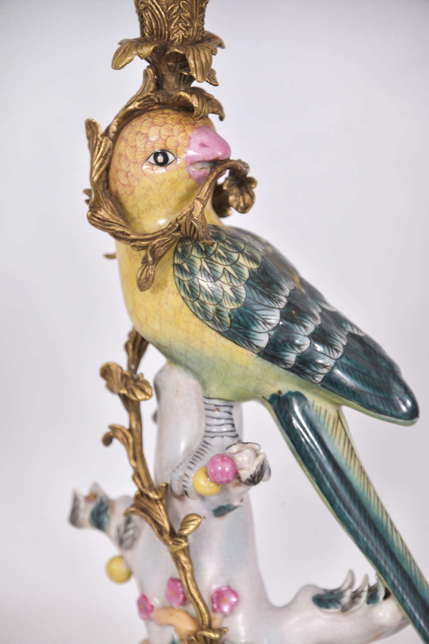 Majolica Style Candelstick Lamps For Sale At 1stdibs