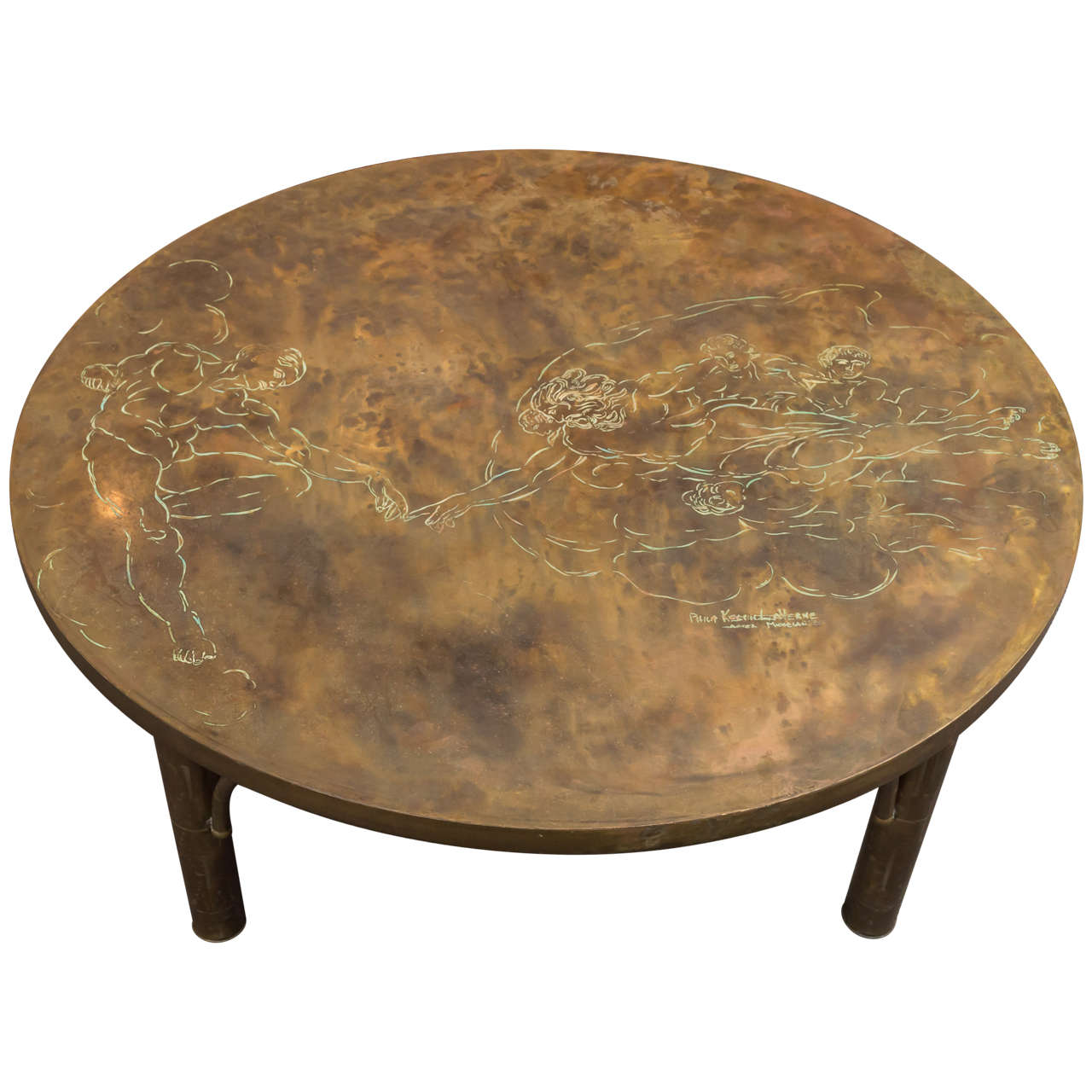 Bronze Coffee Table by Philip and Kelvin LaVerne
