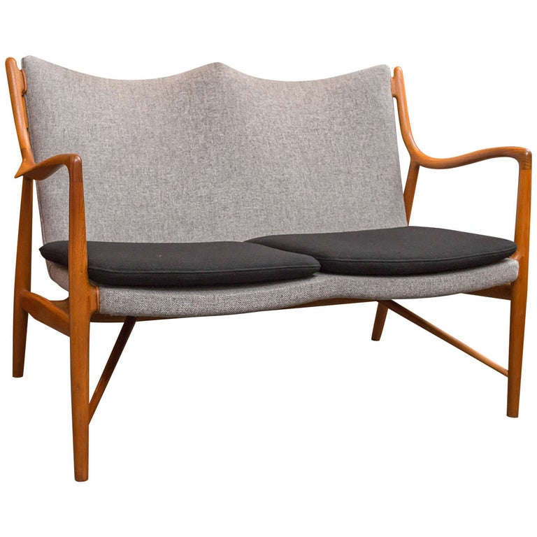 Finn Juhl NV45 Settee by Niels Vodder For Sale