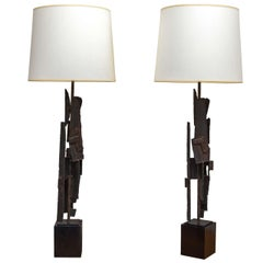 Brutalist Lamps by Laurel Lamp Company