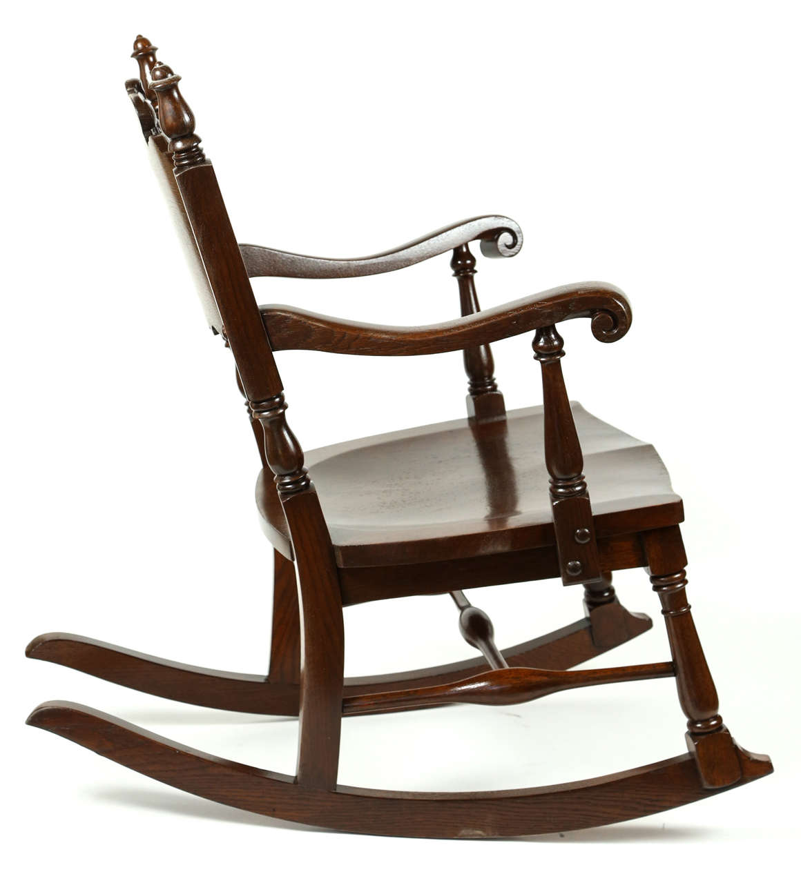 oak rocking chair for sale at 1stdibs. Black Bedroom Furniture Sets. Home Design Ideas