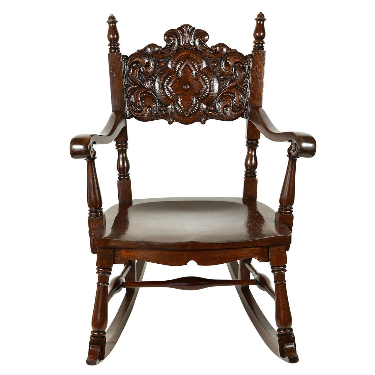 Oak rocking chair for sale at stdibs