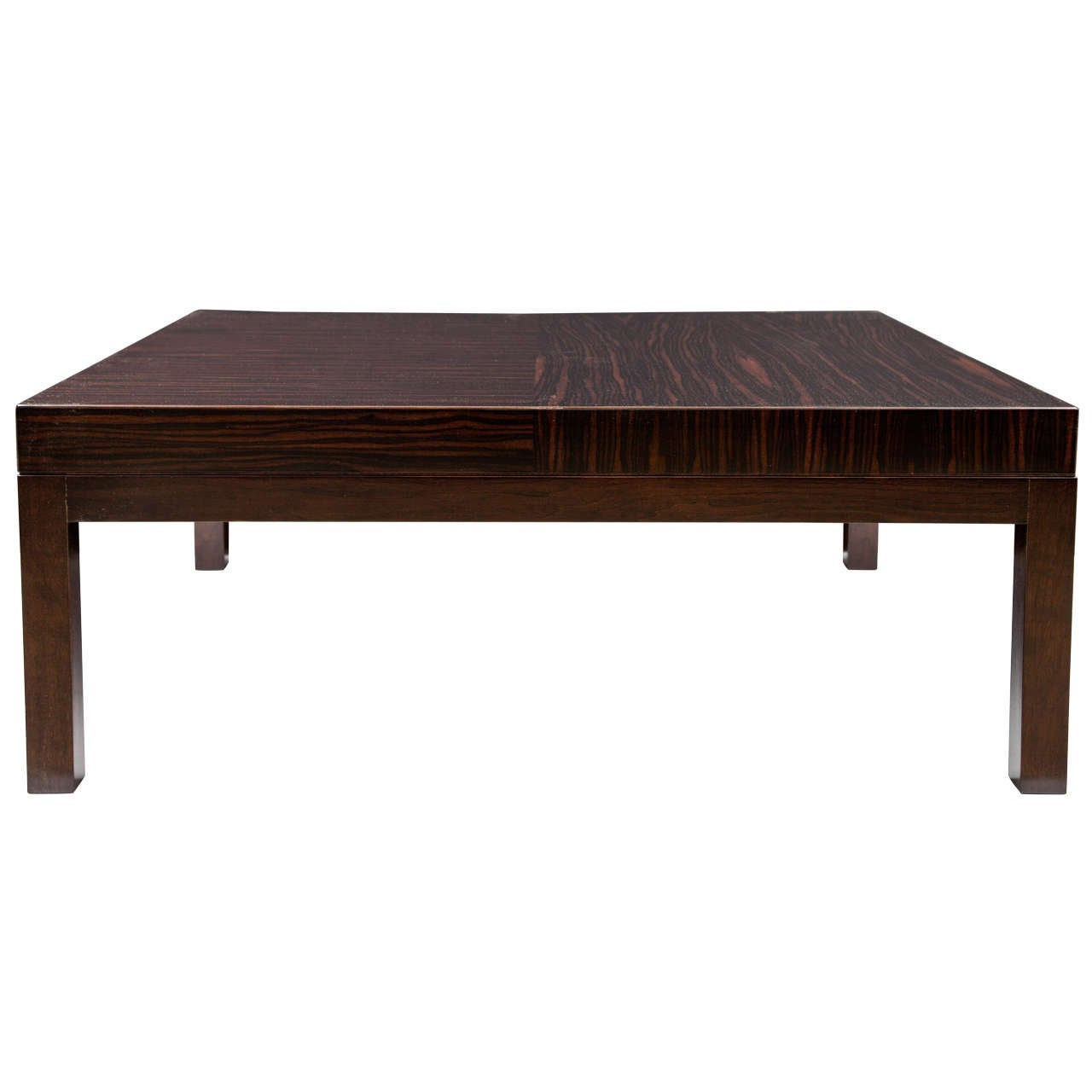 Boke macassar ebony coffee table by christian liaigre for Spl table 1998 99