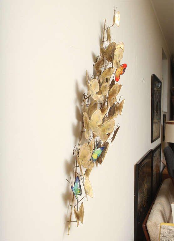 Lovely Large C Jer 233 Butterfly Swarm Wall Sculpture At 1stdibs