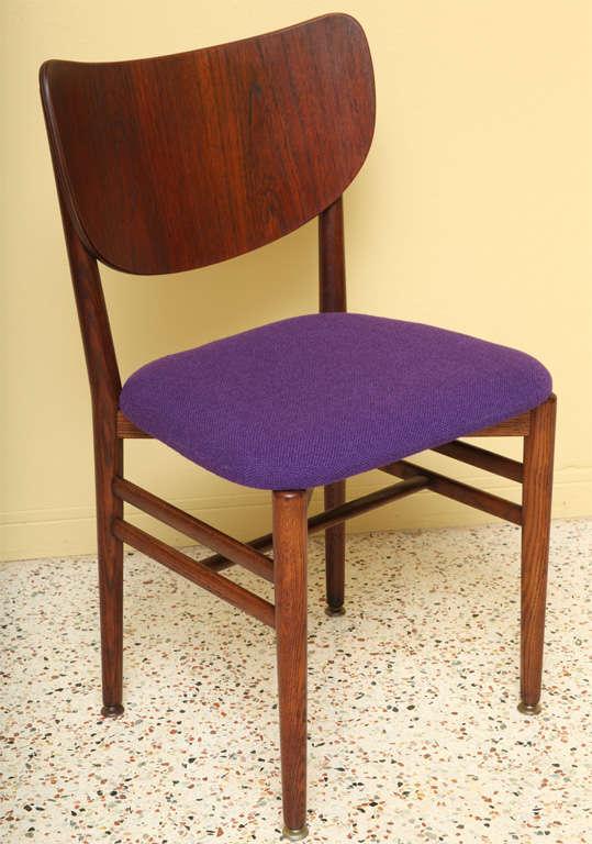 Scandinavian Modern Rare Eva and Nils Koppel Fumed Oak Dining Chairs For Sale