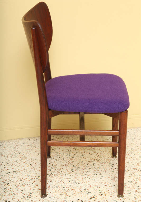 Danish Rare Eva and Nils Koppel Fumed Oak Dining Chairs For Sale