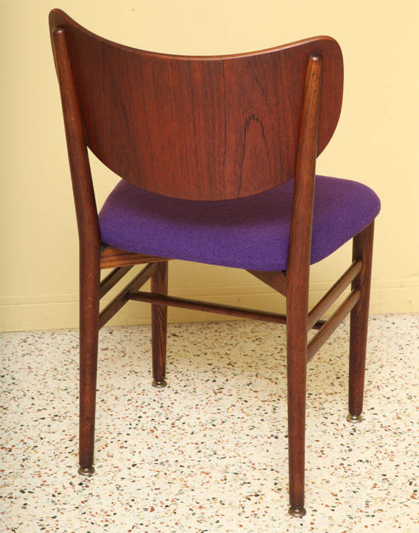 Rare Eva and Nils Koppel Fumed Oak Dining Chairs In Good Condition For Sale In Miami, FL