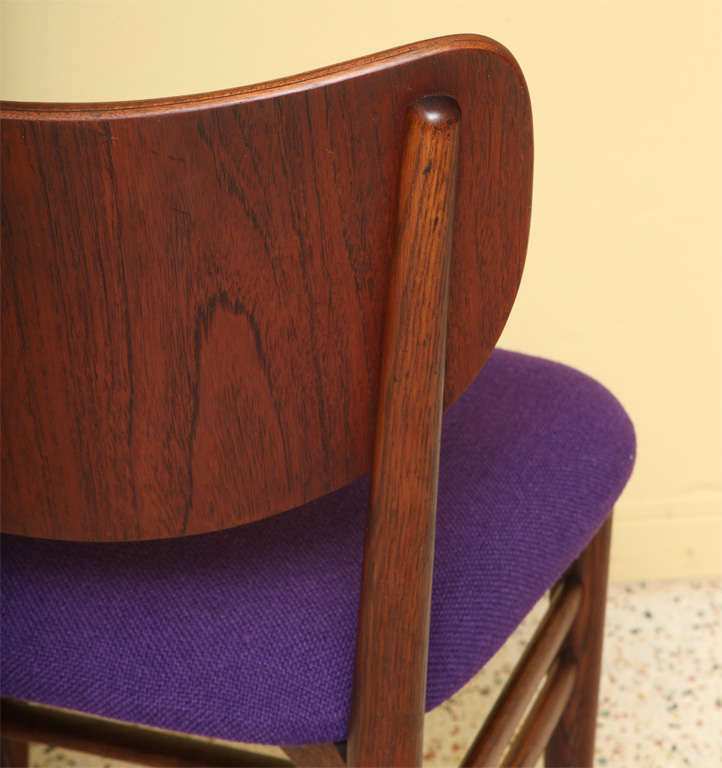 Mid-20th Century Rare Eva and Nils Koppel Fumed Oak Dining Chairs For Sale