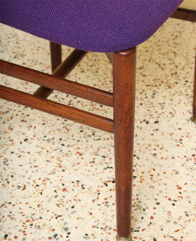 Rare Eva and Nils Koppel Fumed Oak Dining Chairs For Sale 1