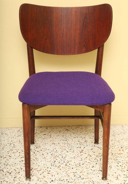 Rare Eva and Nils Koppel Fumed Oak Dining Chairs For Sale 3
