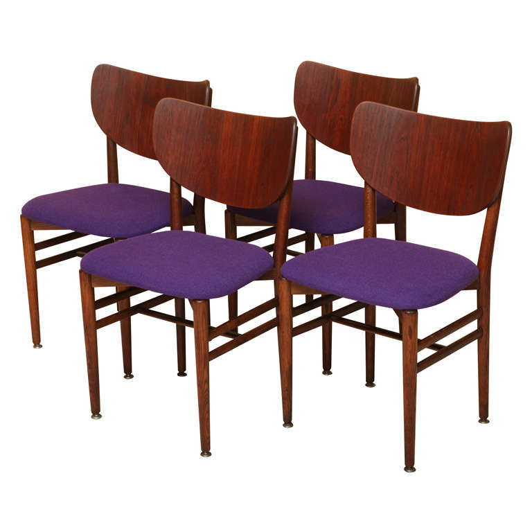 Rare Eva and Nils Koppel Fumed Oak Dining Chairs