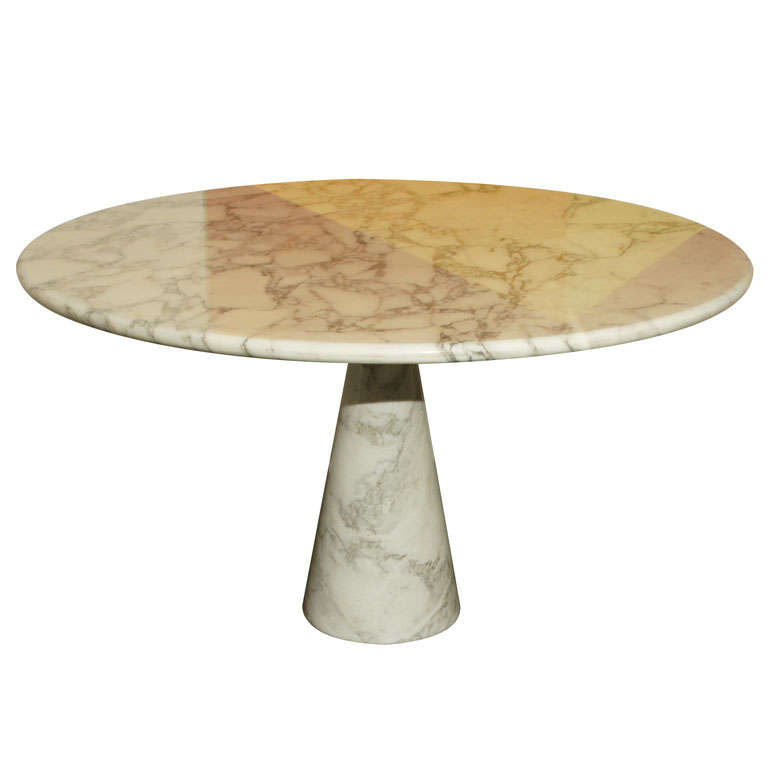 Italian marble dining table by mangiarotti at 1stdibs - Marble dining table prices ...