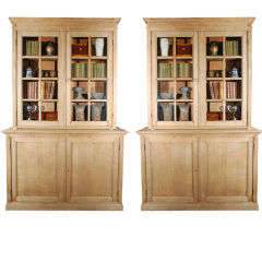 A Pair of French Bookcases with Glass Doors, Circa 1860