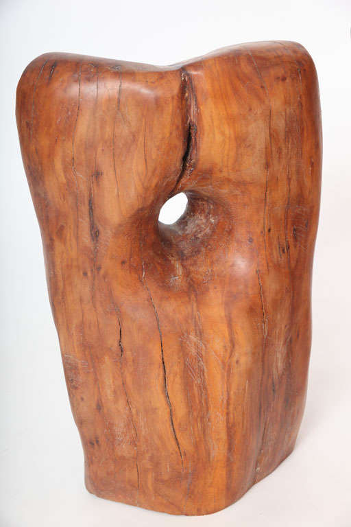American Pair of Modern Organic Abstract Feminine Form Wood Floor Sculptures For Sale