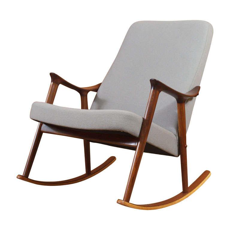 Danish Rocking Chair at 1stdibs