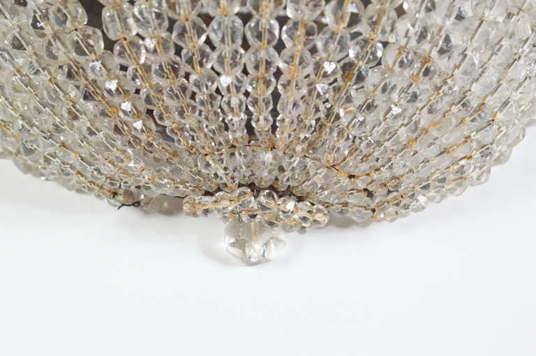 Beaded Crystal Wall Sconces : Pair of Crystal Beaded Sconces at 1stdibs